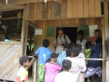 Papua at school with kids